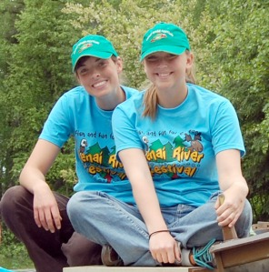 Photo courtesy of Kenai Watershed Forum. Samantha Fox and Megan Haserodt are summer interns for the Kenai Watershed Forum.
