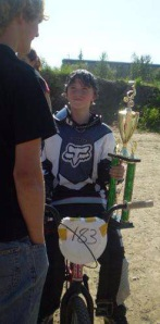 Jacob Schooley is the reigning champ of his age division in BMX races in Fairbanks. He hopes to take a third trophy this year.