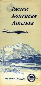 This Pacific Norther Airlines Folder, which used to be used to hold tickets, was in circulation in the late 1950s.