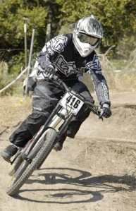 Photo courtesy of Shawn Schooley. Shawn Schooley rides in the 2007 Sea Otter classic in Monterey, Calif.
