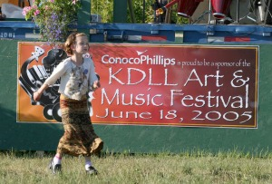A dancer is moved by the music during 2005's festival.