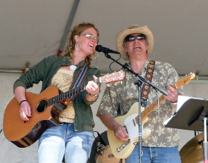 Photos courtesy of Lee Johnson. Katie Evans and Brian Zinck perform at a previous KDLL Art and Music Festival. Evans will debut songs from her new CD at this year's festival.