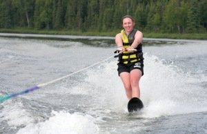 Photo by Clark Fair, Redoubt Reporter. Campers have more high-tech activities to choose from, like waterskiing, as well as the old standards of sledding, hiking and horseback riding.