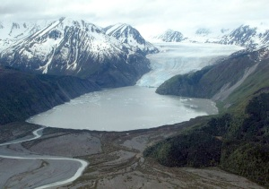 Photos courtesy of David Wartinbee. Skilak Glacier, at the head of Skilak Lake, is one of the many water sources that feed the Kenai River.