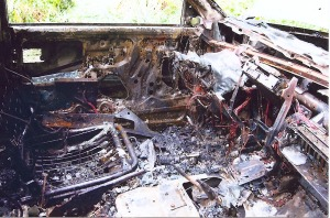 The interior was a fused, smoldering mess.