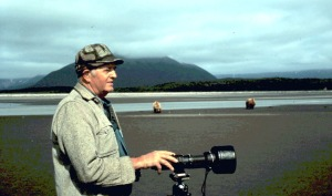 Photo courtesy of Will Troyer. Will Troyer, pictured here in 1997 in Katmai National Park, was largely responsible for naming more than 200 Kenai Peninsula lakes when he was the manager for the Kenai National Moose Range in the 1960s.