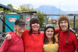 From left is the novice team, Pokryfki, Marti Pepper, Jacque Pepper and Joachim.