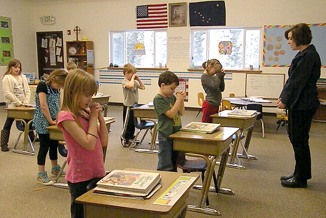 an argument against the prayer in public schools in the united states Christianity is in the very marrow of the people in webster parish, louisiana it's in their public schools, too -- and that led one student to sue.