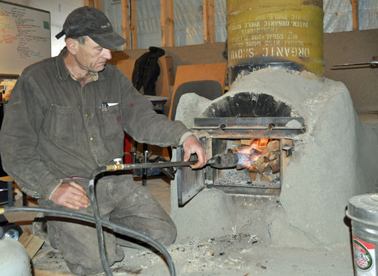 Whole house wood oven a a heating with