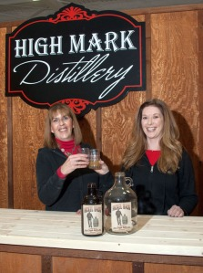 Photo by Elaine Howell. Jeannie Brewer, left, and Felicia Keith-Jones, right, of High Mark Distillery, in Sterling.