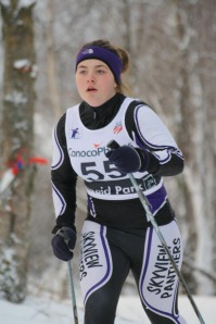 Photos courtesy of Clark Fair. Figure 1: Athletic posture. Mary Hauptman, of Skyview High School, at the 2011 Lynx Loppett ski meet in Anchorage.