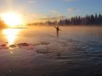 """Cold Casting,"" by Marcus A Mueller, of Kenai. Brendyn Shiflea (with permission) casts in the Kenai River on Nov. 17."
