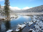 """First Snow"" on Resurrection Trail, taken Sept. 28 at Juneau Creek, between Juneau Lake and Swan Lake, by Cindy Finwall, Kenai Peninsula College."