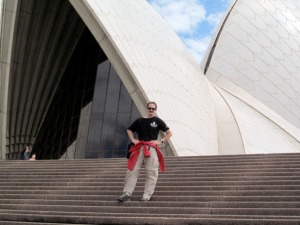Photos courtesy of Jason Daniels. Jason Daniels, a teacher at Kalifornsky Beach Elementary School, visits the Sydney Opera House during his yearlong exchange program in Australia.