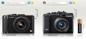 Panasonic's LX7 compared to Canon's G15.