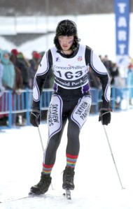 Photos courtesy of Clark Fair. Joey Bishop, of Skyview High School, displays good posture at the state cross-country skiing championship in Anchorage last year, with knees bent, back slightly rounded and head and eyes forward.