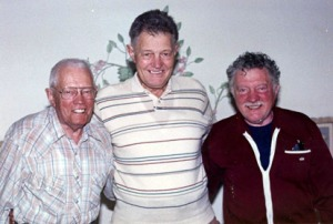 Henning Johnson (right) and his two half-brothers, Carl (center) and Harry in 1993.