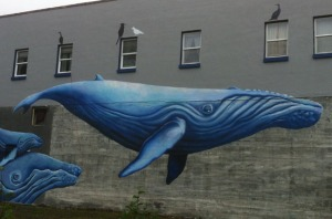 Photos courtesy of Soldotna Rotary. Community murals in Seward provided the idea for the Paint the Kenai project. Above and below are examples of some of the artwork that graces buildings in Seward.
