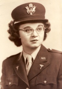 Mary Quesnel enlisted in the Army Nurse Corps in 1944, shortly after graduating from nursing school. She was released from service as a lieutenant at the end of World War II in 1946, after being stationed in Tinian and Saipan in the South Pacific.
