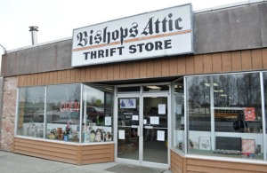 Photo by Joseph Robertia, Redoubt Reporter. Bishop's Attic, currently located on the Kenai Spur Highway in Soldotna, is moving this week to the old Polaris dealership on Binkley Street and Wilson Lane.