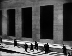 "Figure 1: ""Wall Street"" by Paul Strand."