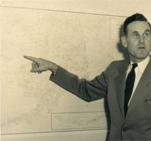 Harold Pomeroy as director of the Alaska Territorial Civil Defense in the mid-1950s.