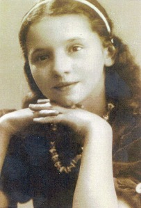 "Photo from ""The Heirloom Treasures of Roxolana Skobelska Pomeroy"" exhibit in Chicago. Roxy Skobelska as a young girl, most likely taken in the mid- to late 1930s."