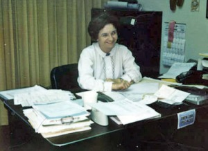 Roxy Pomeroy at the Alaska Division of Lands in 1962, at about age 38, working for Roscoe Bell as a land law examiner.