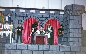 "Directors constructed an elaborate castle for a production of ""Robin Hood"" at Soldotna Elementary School. The school went all out in all its 18 years of musicals."