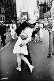 Figure 2 — Alfred Eisenstadt's iconic photo of V-J Day in Times Square when the end of World War II was announced.