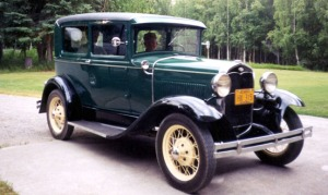 The restored Model A in about 1995.