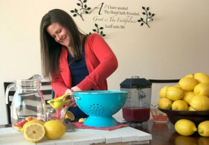 Photo by Jenny Neyman, Redoubt Reporter. Maya Evoy works on a recipe for strawberry lemonade at her home in Nikiski to post to her food blog, Alaska from Scratch. Evoy has been blogging since fall 2011 and has seen rapid, exponential growth in readership.