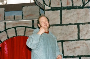 Photos courtesy of Bud Draper. Tom Anderson performing in one of the 18 musicals he helped write, direct, act in and produce during his tenure at Soldotna Elementary School.