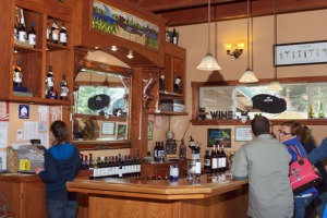 Photo courtesy of Elaine Howell. The Bear Creek Winery in Homer sees steady traffic to its tasting room.