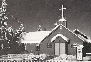 Photo courtesy of the Kenai Peninsula Historical Association. Kenai Bible Chapel.