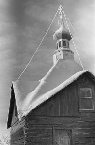 Photo by Mary Ford, courtesy of the Kenai Historical Society. The Russian Orthodox Church chapel in Kenai.
