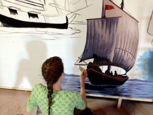 Triumvirate mural Hannah Halliday