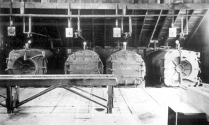 Retorts at the Kasilof Cannery, about 1890.
