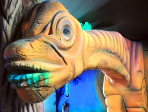 Dinosaurs, sea creatures and outer space are just part of the décor in Jumpin' Junction's new facility with mini-golf, an arcade and other activities for teens and adults.