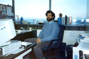Photos courtesy of Phil North. Phil North in his EPA office in Anchorage, his first station in Alaska, before moving to Kenai in 1998.