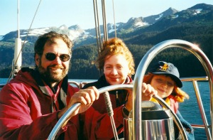 Phil North, his wife, Amanda, and daughter Isabella sail in Kachemak Bay a few years ago. The Norths bought a live-aboard sailboat in Florida and plan to spend the next couple of years sailing around the world, following North's retirement from the Environmental Protection Agency.