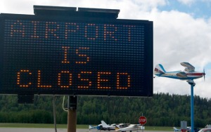 The Soldotna Airport opened to limited traffic Monday, after being closed all day Sunday following the crash.