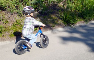 The new style of bike, for young kids, teaches balance and steering skills without the complication of pedals.
