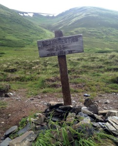 Photo by Jenny Neyman, Redoubt Reporter. Resurrection Pass, elevation 2,600 feet. From here, it's a mere 18 or so miles to Hope.