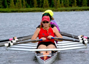 Saylor, in red, has been rowing for 11 years and says she still has technique to learn. That's the beauty of the sport — easy enough to start quickly but complex enough to be endlessly challenging.