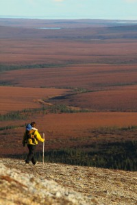 Photos courtesy of Ground Truth Trekking. Hig Higman and Erin McKittrick took this trek to the tundra plains surrounding the Noatak River in fall 2010.