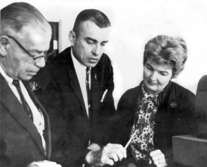 James Fisher (center) and his wife, Helen, are seen here in 1966 with U.S. Sen. Bob Bartlett, whom they supported politically.