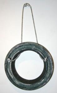 """""""Concentric Ring,"""" ceramic and aluminum."""
