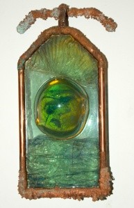 """Water Line,"" copper-plated resin."