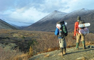 Photos by Joseph and Colleen Robertia. Grace, 10, and Billy, 12, Morrow, of Kenai, survey Resurrection Pass Trail on a bird-hunting through-hike over the weekend.
